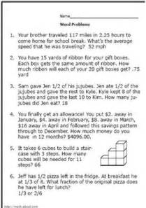 16 best images of percent word problems worksheets 5th