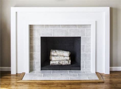 covering brick fireplace with ceramic tile fireplace subway tile surround images
