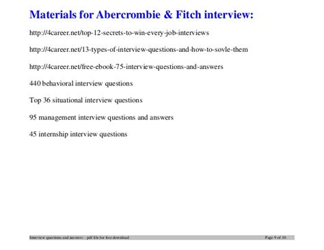printable job application for abercrombie and fitch abercrombie fitch interview questions and answers