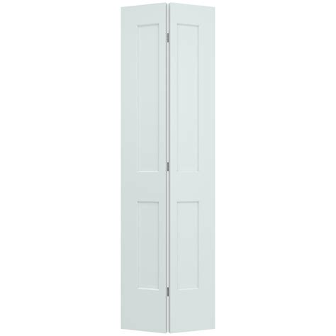 jeld wen 22 in x 80 in smooth 2 panel light gray solid