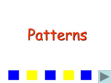 Interactive Pattern Activities For Reception   repeating patterns resources tes