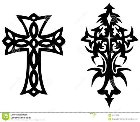 tattoo cross vector cross vector tattoo stock vector image 64131706