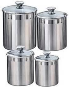 stainless steel canisters kitchen stainless steel canister for compostables the kitchn