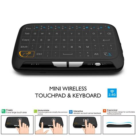 Keyboard Wireless Touchpad top h18 mini wireless keyboard screen large touchpad air mouse ebay