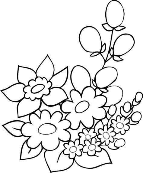 fiori da colorare sta disegno di fiori di primavera da colorare