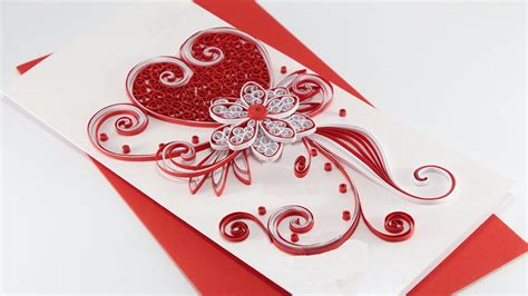 Paper Wedding Card by Quilled Card How To Make Beautiful Quilling Wedding Card