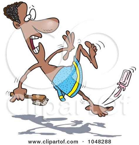 Slipping In The Shower by Royalty Free Rf Clip Illustration Of A