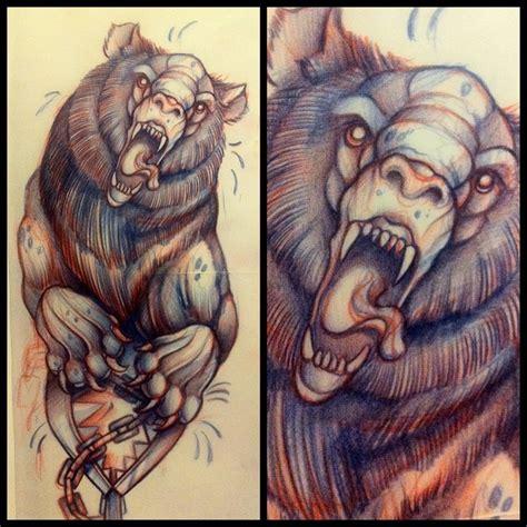 bear amp heart tattoo sketch tattoos pinterest tattoo
