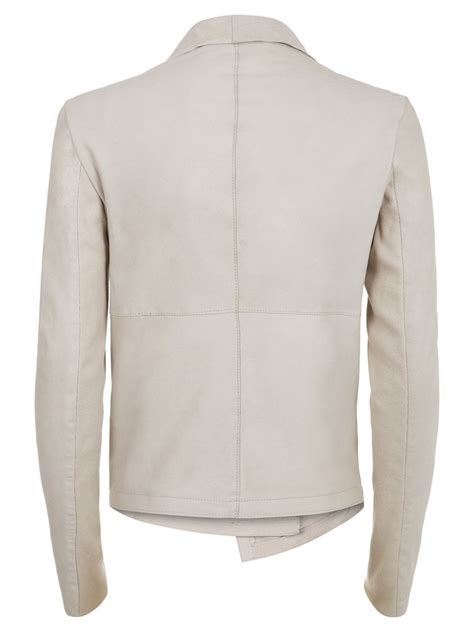 drape leather jacket louis beige drape leather jacket
