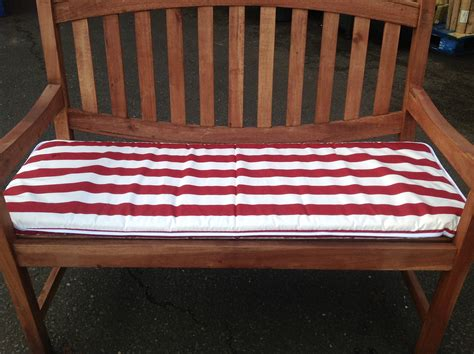 garden bench seat pads 4ft garden bench cushion red white stripe hammock seat