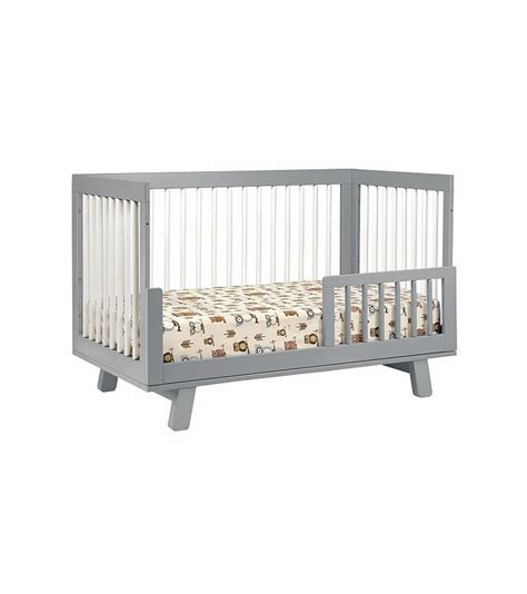 Hudson 3 In 1 Convertible Crib With Toddler Rail Babyletto Hudson 3 In 1 Convertible Crib With Toddler Bed Conversion Kit In Grey White