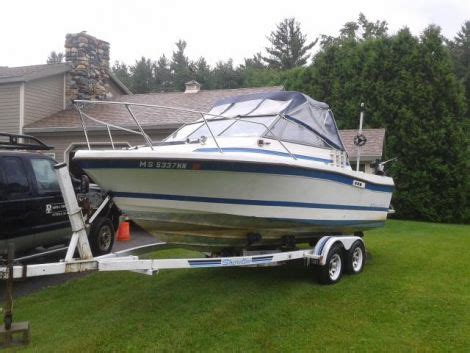 boats for sale pittsfield ma 1987 21 foot bayliner trophy fishing boat for sale in