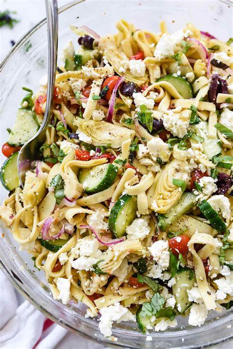 pasta salad ingredients pasta salad with cucumbers artichoke hearts