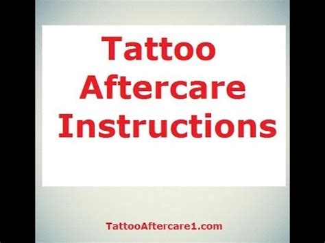 tattoo aftercare youtube aftercare tattoo tattoo aftercare tips tattoo aftercare