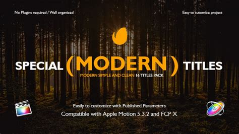 apple motion templates for sale special modern titles pack for fcpx videohive