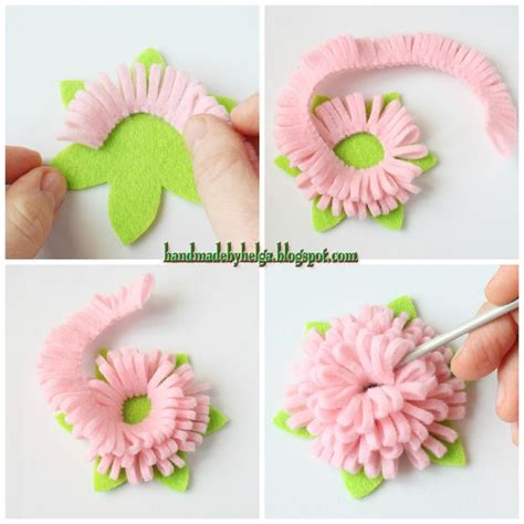 Handmade Felt Flowers Tutorial - 1734 best images about handmade flowers tutorials on