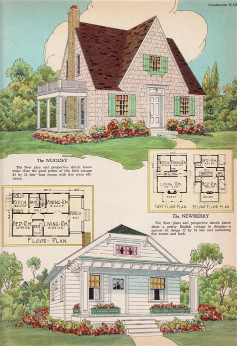 english cottage style house plans radford house plans 1925 nugget and newberry small