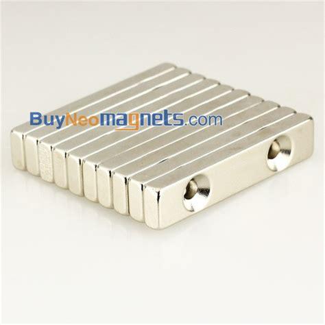 Magnet Neodymium Block 10mm X 5mm X 3mm 50pc 5pcs 50mm x 10mm x 5mm thick with 2 holes 3mm n35 strong block earth neodymium magnets