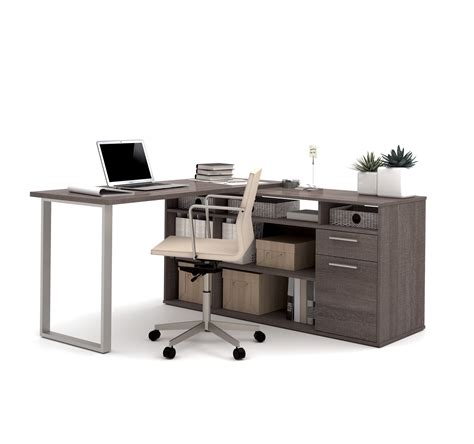 grey l shaped desk 100 free shipping modern l shaped grey l shaped