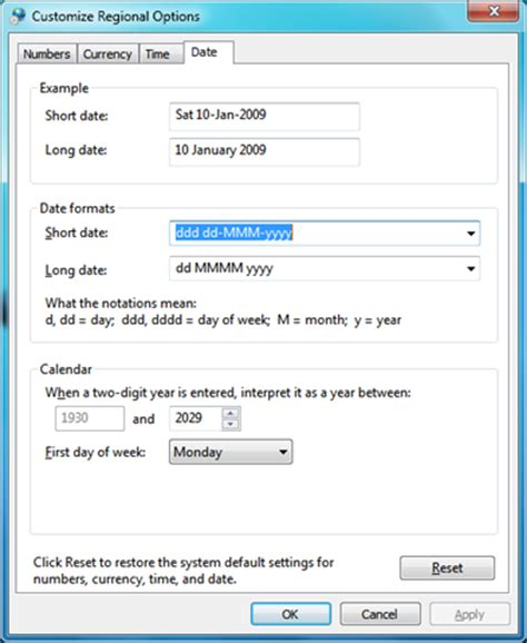 format date british windows 7 date format showing as us mm dd yyyy instead of