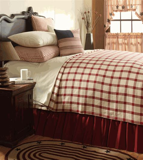 plaid coverlet clayton red plaid coverlet by vhc brands