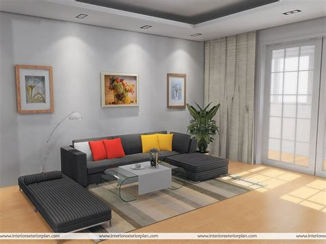 interior exterior plan simple  uncluttered living