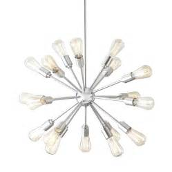 Starburst Chandelier By Trend Lighting Shop Style Selections Grayford 35 43 In 18 Light Brushed