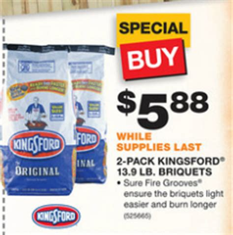 the home depot kingsford briquets 2 13 9 pounds for 5