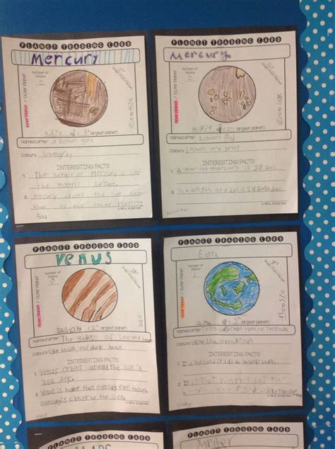 solar system trading cards template 59 best primary teaching resources on tpt images on