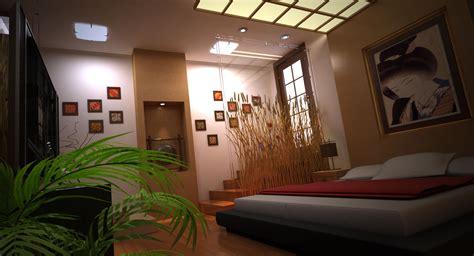 modern japanese bedroom modern japanese bedroom 3d model max cgtrader com