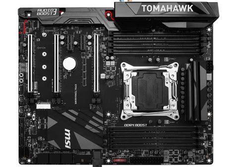 Dijamin Msi X99a Tomahawk Lga2011v3 X99 Ddr4 x99a tomahawk motherboard da msi pcguia