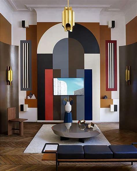 moodboard collection  art deco interior decor trend