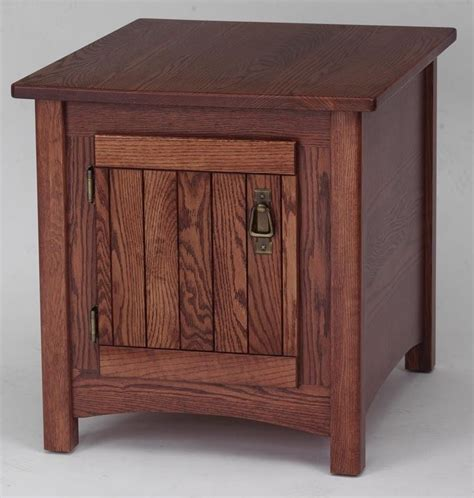 end tables with storage 931 solid oak storage mission end table ebay