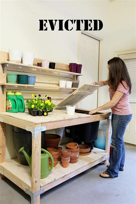 rubbermaid potting bench our garage plans bower power