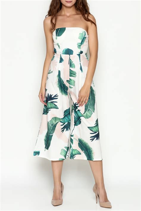Tropical Print Jumpsuit l atiste tropical print jumpsuit from manhattan by dor l