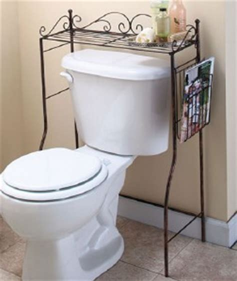 The Toilet Shelf Stand by Bathroom Space Savers Bronze The Toilet Stand