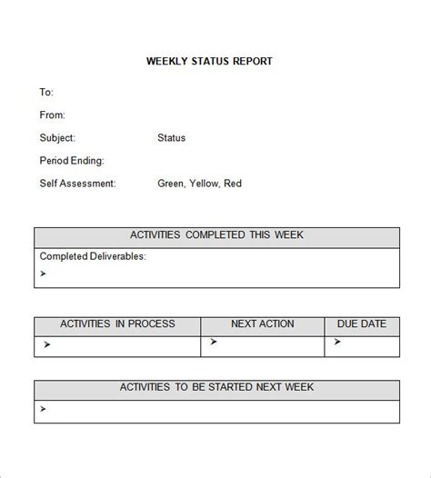 weekly status report template 28 free word documents