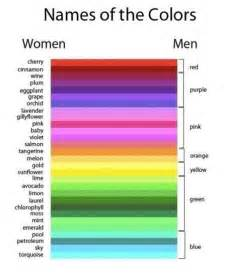 punny color name man vs woman colors joke overflow joke archive