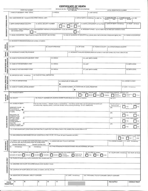death certificate forms pictures to pin on pinterest