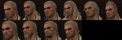 witcher 3 all haircuts and beards the witcher 3 wild hunt ot gwent player monster slayer