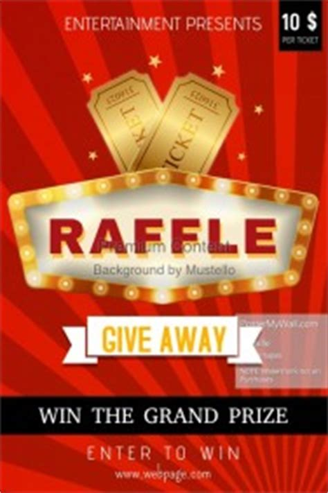 Raffle Giveaway Template - contest poster templates postermywall