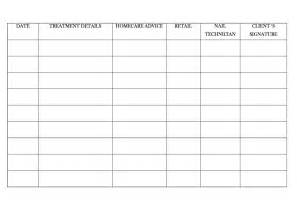 your client form template nail technician client record card template nail lacquer uk
