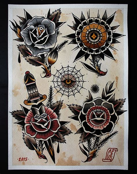 american traditional tattoo artists pale september photo a flower ii