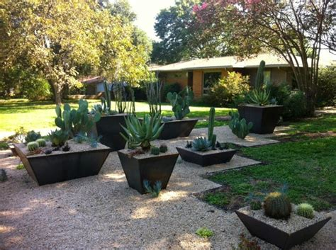 modern garden design exles planters as accent houzz