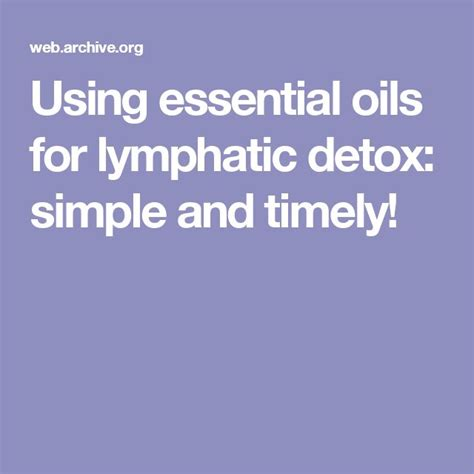 Essential Oils For Lymph Detox by The 25 Best Essential Oils For Congestion Ideas On