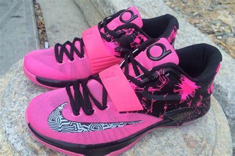 pink and black kd sneakers heavenly nightlife