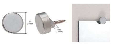 Powered Blinds Crl Brushed Nickel Round Mirror Clips Set Home Decor