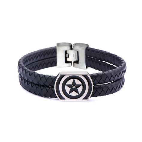 captain america s leather bracelet