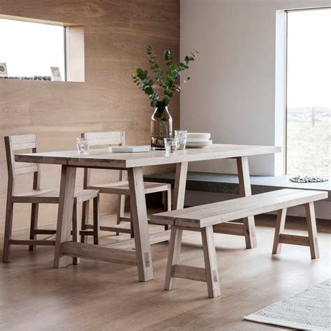 waldorf contemporary oak dining table oak dining furniture