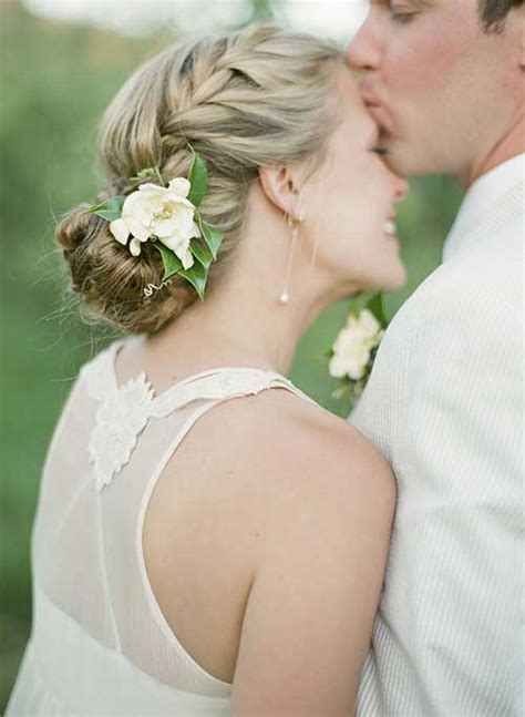Wedding Hairstyles With Veil And Flower Big by 25 Simple Bridal Hairstyles Hairstyles 2016 2017
